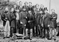 Picture of Prince Arthur turning the first sod for narrow gauge Toronto, Grey and Bruce Railway of Ontario Canada