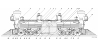 Cross Section of narrow gauge Fairlie Locomotive for Toronto, Grey and Bruce Railway of Ontario Canada